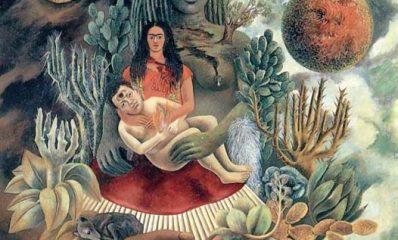 El_abrazo_del_universo_la_tierra_Diego_yo_y_el_Sr.X_lotl_Oleo_1949.