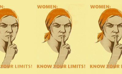woman silence