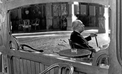 Jorge Luis Borges en Palermo, foto Ferdinando Scianna (1984)02